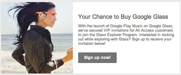 Google Glass, Play Music All Access
