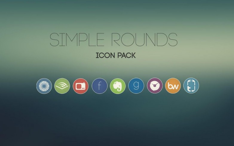 simple rounds icon pack